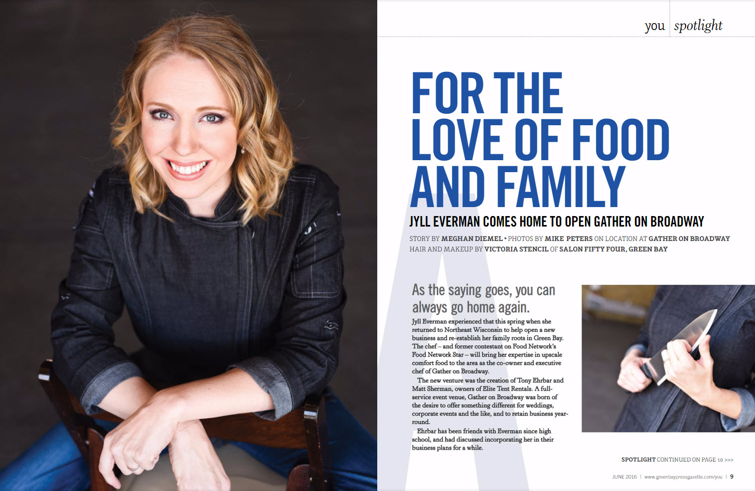Chef Jyll Everman Featured in You Magazine