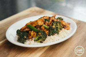 Mongolian Chicken with Broccoli and Rice